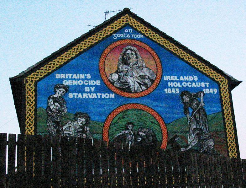 Irish genocide the espresso stalinist for Mural ireland