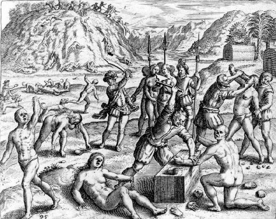 an analysis of the brutal murder and rape of indian natives in america by the spanish conquistadors Best answer: mayans aren't from mexico but south america their are still a 30% indian population in mexico spain raped indians to try and rid the indian culture but didnt indians out numbered spanish so most mexicans are mestizo but alot of indians call themselves mestizo.