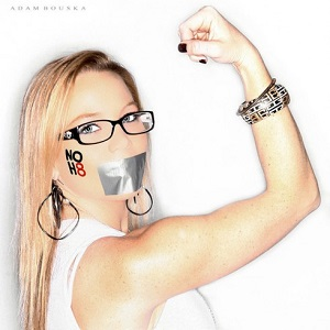 Lauren Drain was thrown out of the Westboro Baptist Church five years ago (Image: NOH8)