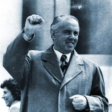 Enver Hoxha Raised Fist