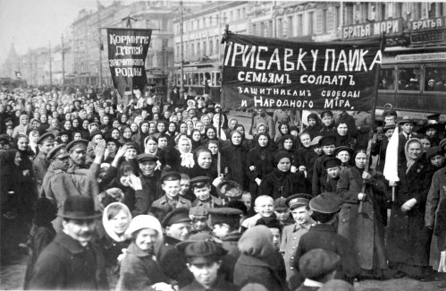 The start of the Russian Revolution, on International Working Women's Day, 1917,
