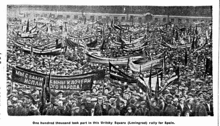 1936 March of Leningrad for Spain