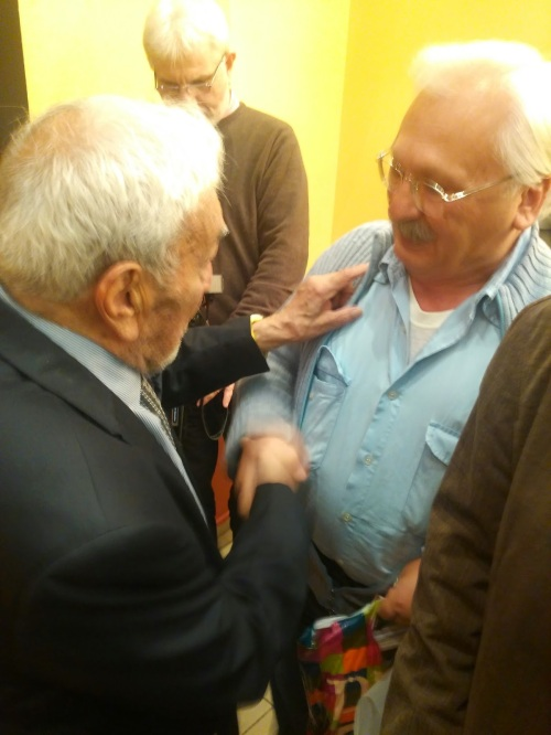 Alexis Parnis (poet and close friend of N. Zachariadis) and Tassos Mpallos