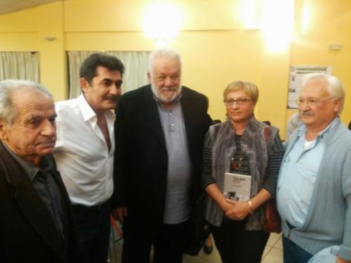 K. Natsikas (member of the PC of Anasintaxi), S. Zachariadis, T. Mpallos, et al.