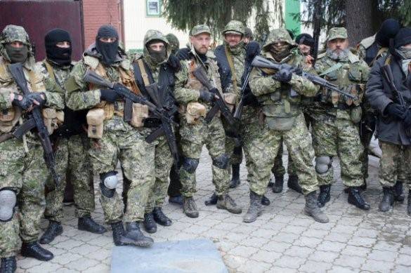 Russian special forces and mercenaries that started the war in Donbas, Ukraine