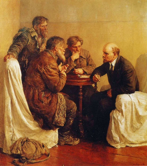 vladimir-serov-peasant-petitioners-visiting-lenin